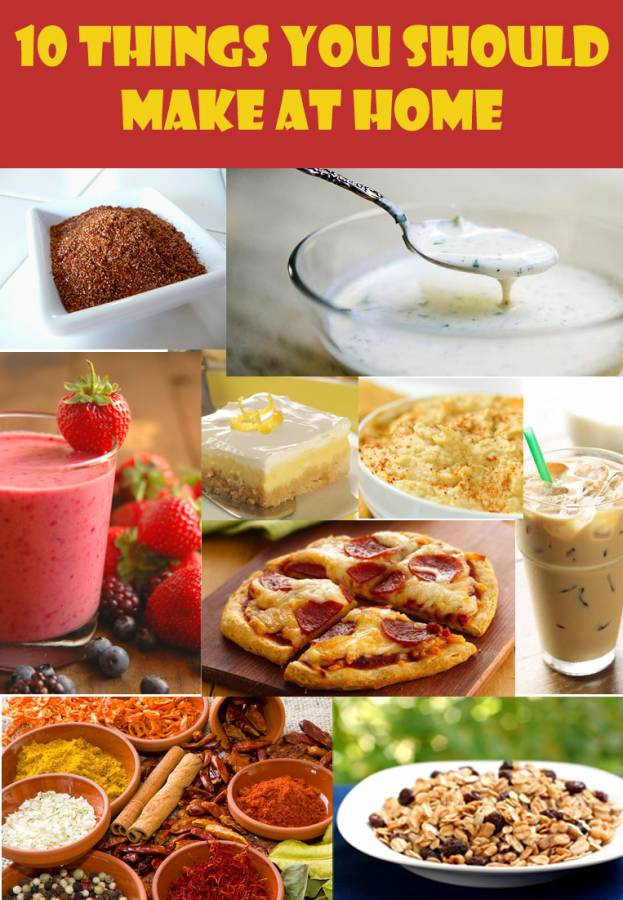 5 minute recipes like making your own taco seasoning for a few pennies instead of paying $1 for a packet, or how about making your own iced latte for less than 25¢ and skipping your daily $4 Starbuck's run. 10 Things You Should Be Cooking From Scratch to Save Money