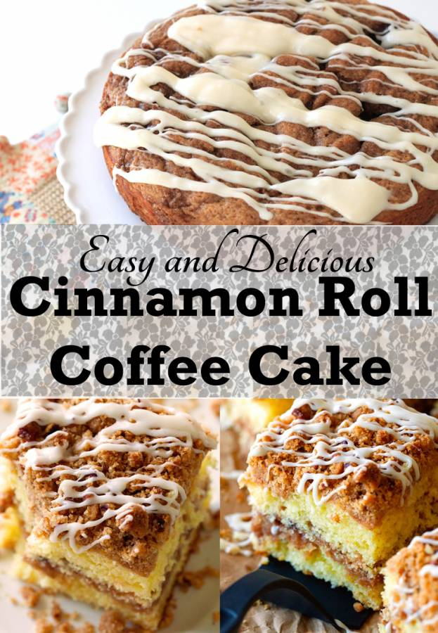 Don't you love waking up to the smell of freshly baked cinnamon rolls? Cinnamon Roll Coffee Cake is a quick and easy breakfast that will have your guests begging for the recipe.