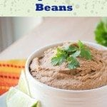 Beans are a frugal super food...they cost pennies and are packed with protein and fiber. A can of refried beans costs about $1, and this Crock Pot Refried Bean Recipe can be made for about 50¢.