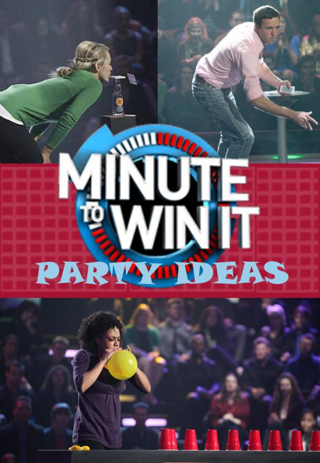 It might be time to host a Minute To Win It Party!