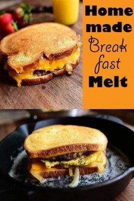 Bring the best tasting breakfast melt to your table. This recipe of homemade breakfast melt is easy to follow  and in less than 30 minutes you  have cheesy and  fulfilling meal before your family goes to school or work.