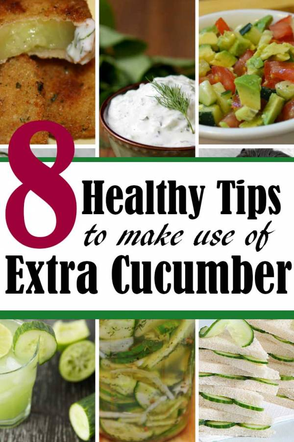 More than enough cucumbers?  Don't let them go to waste.  Here are some ideas what do with extra cucumbers on hand.