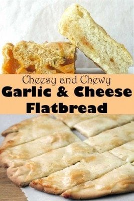 With garlic and dash of cheese, this flatbread takes about less than 30 minutes to bake. This is suitable alongside salad or soup for one delightful meal. It is also a great snacks for kids.