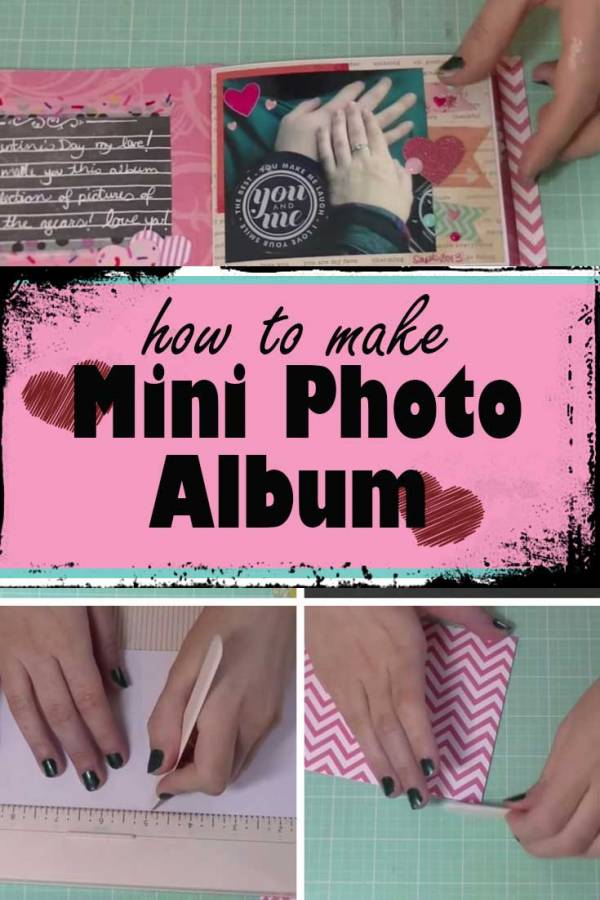 Create a mini photo album as gift to your BFF or someone special. Bring smile to your recipient with this simple DIY.