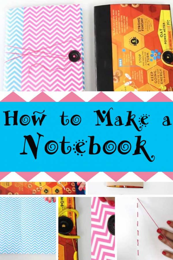 Write it down how to make a charming and useful notebook the write down your notes or journal on this diy notebook made from cereal box ccuart Image collections