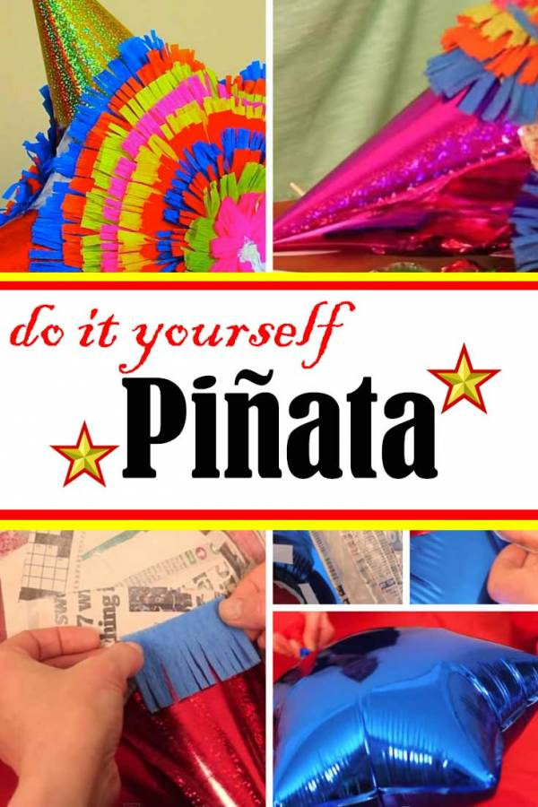 Children's party will never be complete without pinata full of sweet goodies. Make one on your own with just basic materials.