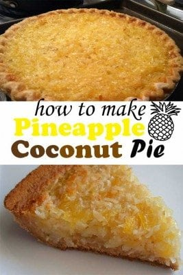 Add a tropical treat to your table with Pineapple Coconut Pie. With only a few ingredients, you make a deliciously rich treat that definitely make you a champion to kids.