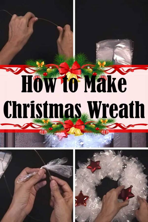 Create a Christmas wreath without breaking your bank. A much better decor than a welcome mat.