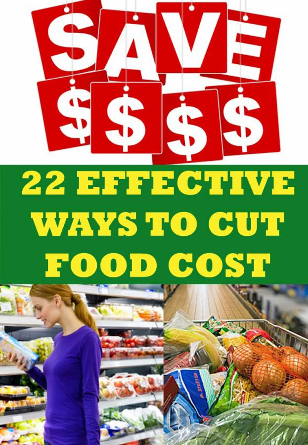 The average family of four spends $800 - $1000 a month on food (groceries and eating out), so there's plenty of room to cut food costs! You don't have to stop eating out or become an extreme couponer to cut your food costs. I've come up with 22 ways to cut food costs, and I'm sure you'll find a few that will fit your lifestyle.