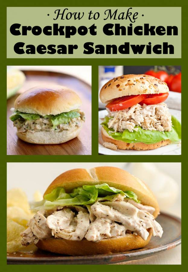 My family has declared Crock Pot Chicken Caesar Sandwiches the best sandwich ever...need I say more? Yes! It's quick and easy thanks to frozen chicken breasts and a crock pot.