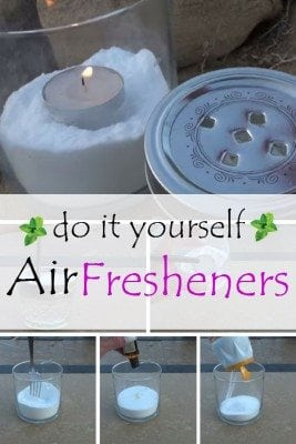 A DIY air fresheners to keep bathroom or kitchen smelling good. No need to buy from local store.