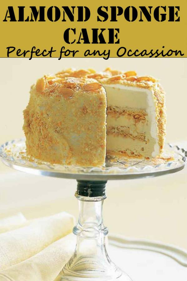 A golden almond sponge cake that is simple to make. It tastes fantastic and the celebrant will surely appreciate it. Quick, inexpensive and tasty.