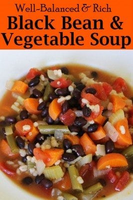 Low in sodium and fat, black bean and vegetable soup is a versatile meal so don't be afraid to make one on your own. Hearty and yummy meal that you can make in a couple of hours. Don't forget to add it to your family's menu.