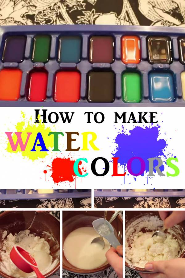 Boost your kids' creativity with DIY water colors. Make one on your own instead of buying from local store.