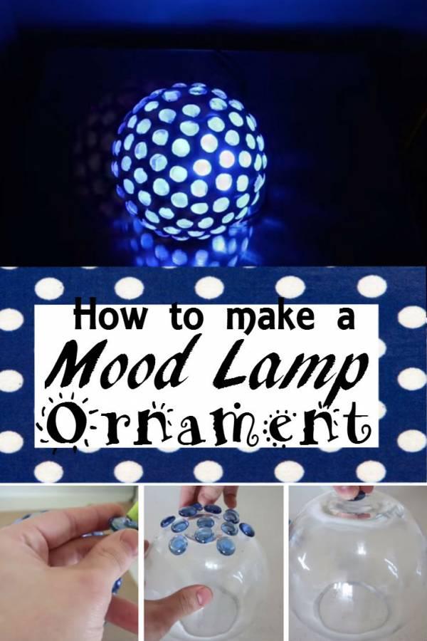 Set the mood with this pretty DIY mood lamp ornament. It looks cool once you turn on the LED light.