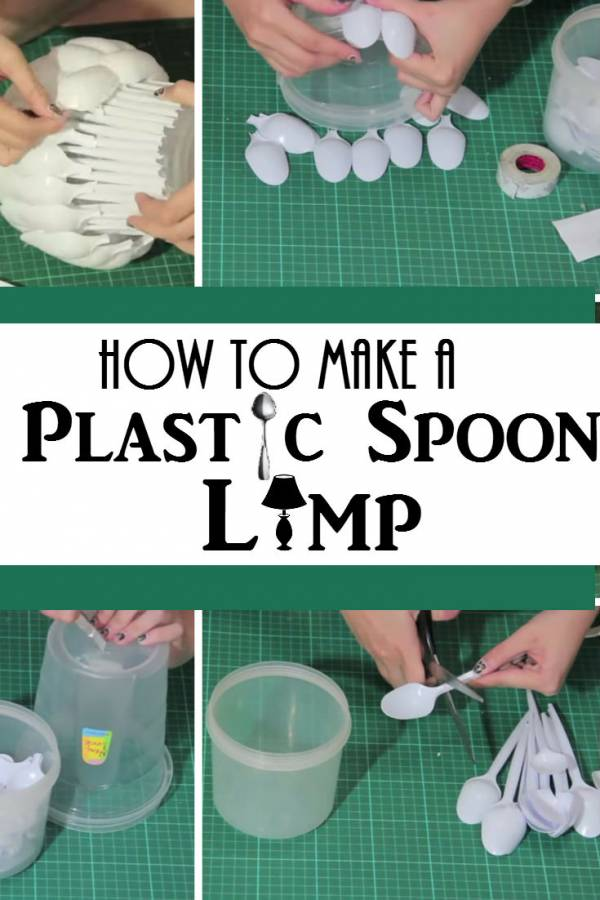 Create a stunning and functional lamp with plastic spoons.  Crafty, amazing and elegant!
