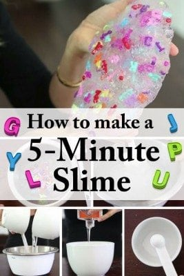 Be a winner to your kids with this 5-minute DIY slime! A fun, quicky and sticky project!