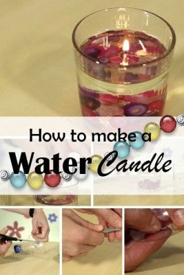 Add a beautiful lighting to your home with DIY water candle. It looks astonishing and elegant.