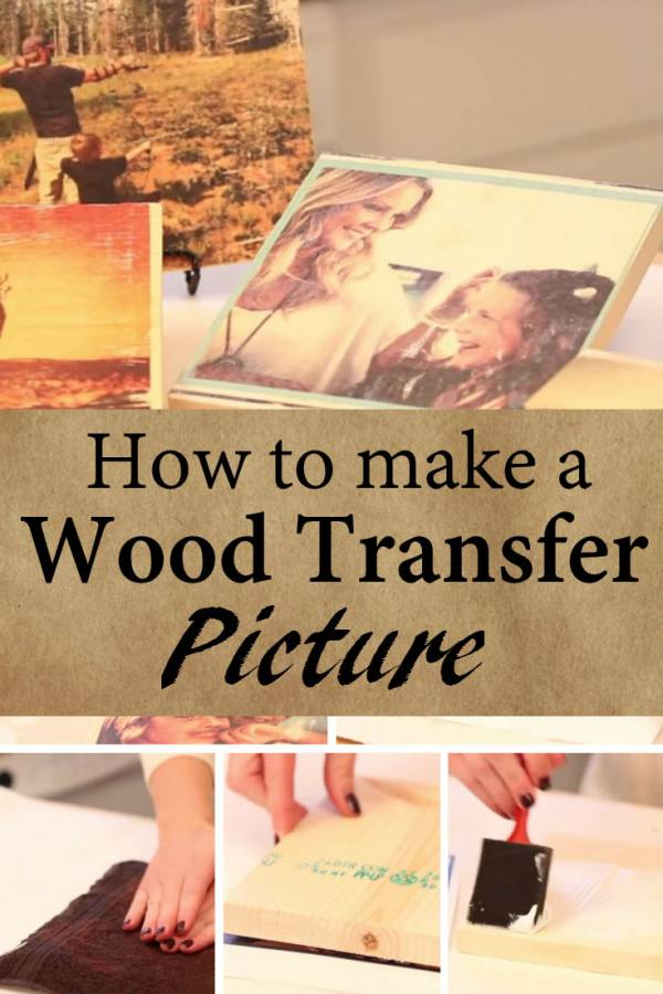 Diy Transfer Wood Pictures An Easy Way To Add An Antique