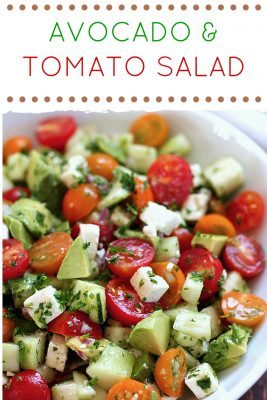 Simple Avocado and Tomato Salad: An Amazing Side Dish - The Budget ...