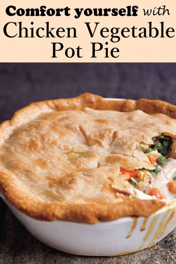 An appetizing dinner from scratch - Chicken Vegetable Pot Pie. In under 90 minutes, you can serve a hot, crunchy and so-good dinner for the family. The perfect comfort food after a long day.