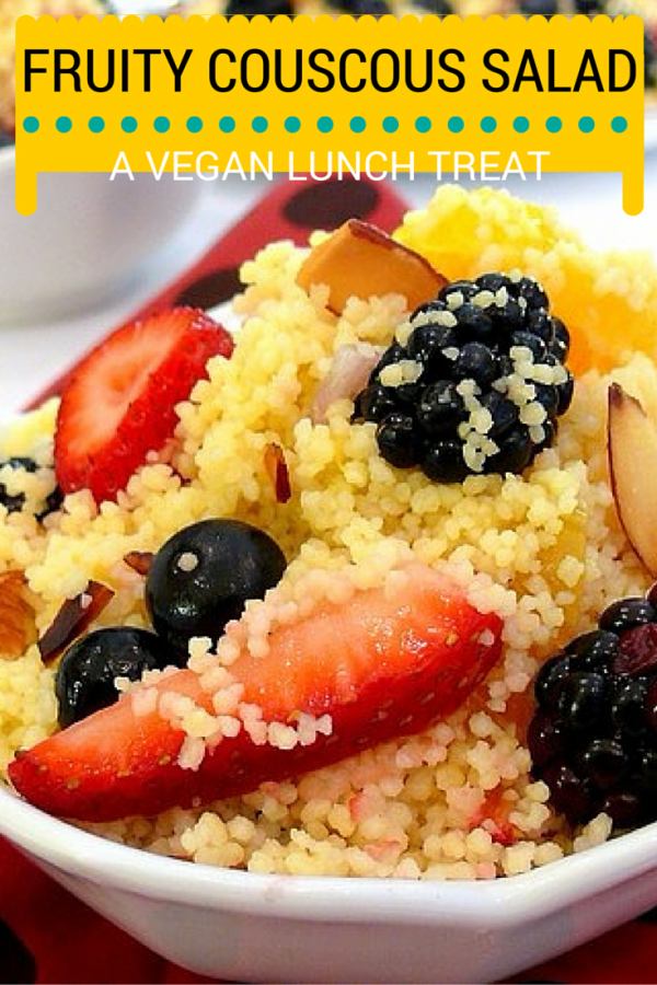 Fruity Couscous Salad is a fruit-studded salad perfect for veggie lovers. It's healthy, tasty and the recipe is easy-to follow. Moreover, it won't take much of your time to prepare.
