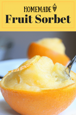 Homemade Fruit Sorbet that you can make every summer. With any fruit of your choice, you can achieve the same taste and creaminess of store-brought ice cream. A simple and quick dessert.