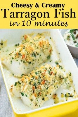 Tarragon adds a mouth-watering flavor and aroma over the fish making it the best family main course. You can choose any type of fish for this recipe. Surprisingly, this meal is ready under 10 minutes.