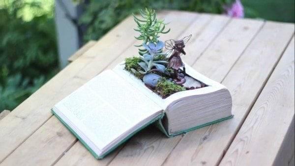 DIY Vintage Fairy Garden Book
