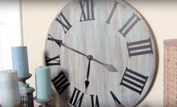 diy rustic wall clock