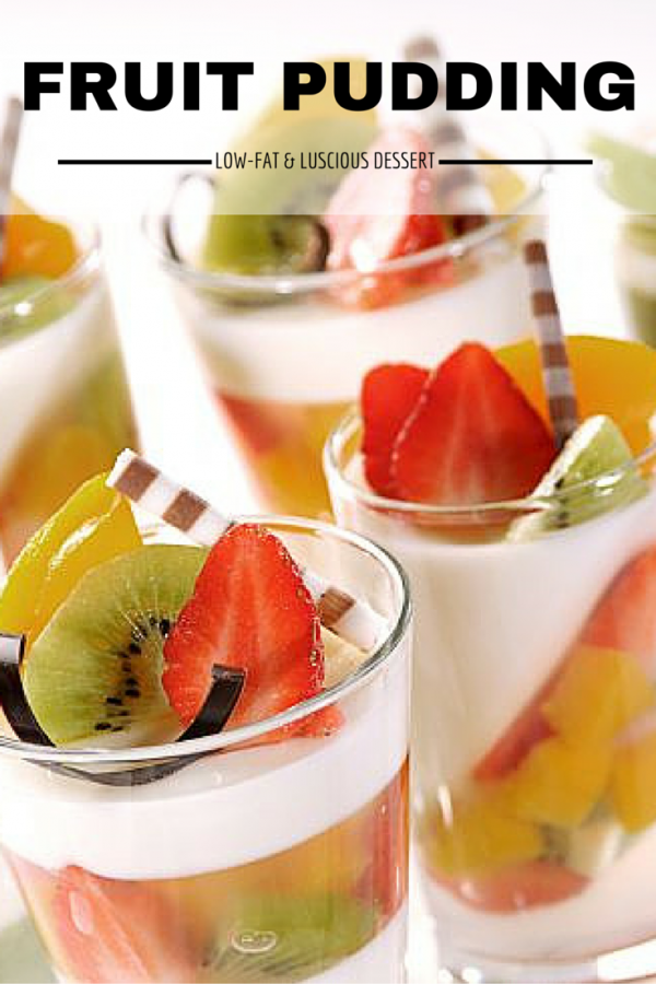 A mixture of your favorite fruits and pudding. This fruit pudding is an excellent dessert that you can serve your family and friends. It only takes about 30 minutes. Ideal for fancy parties or small gatherings.