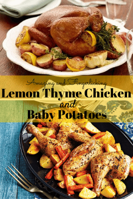 Surprisingly delicious, quick and simple! Lemon Thyme Chicken and Baby Potatoes will surely please your loved ones. Juicy and satisfying meal in just a few steps.