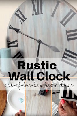 An elegant addition to your wall. A DIY rustic wall clock that won't take much of your time.
