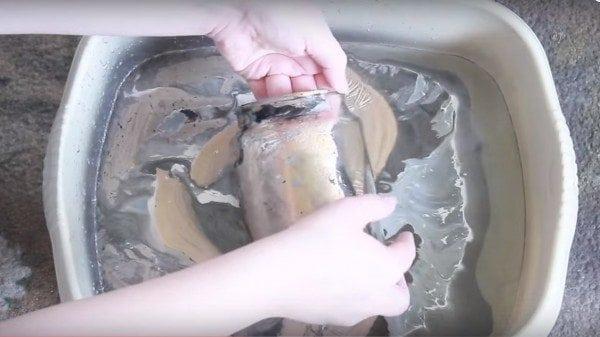 diy marbled jar