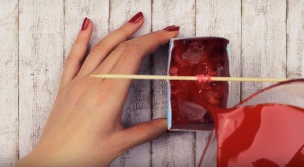 diy fall candle using ice