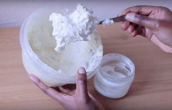 homemade creamy shea butter