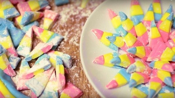 homemade bubblegum candy corn