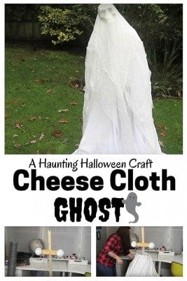 Add a spooky decor to your yard with DIY Cheese Cloth Ghost. An easy way to scare both kids and adults.