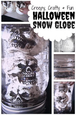 Christmas is not the only time you can create snow globes, Halloween is also the perfect season. It is spine-chilling but great home decor.