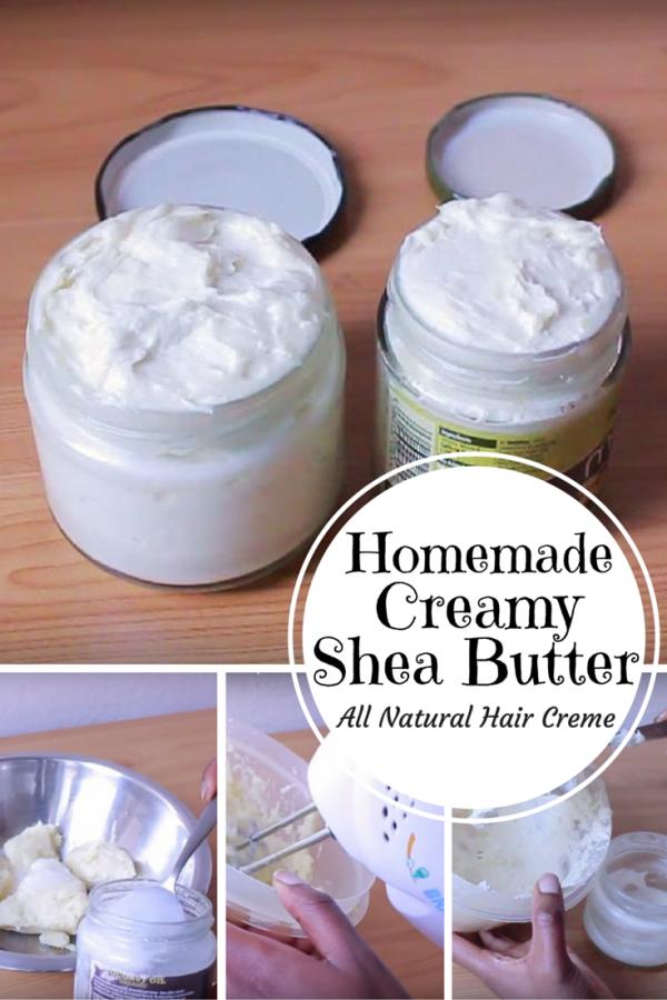 Homemade Creamy Shea Butter An All Natural Hair Creme