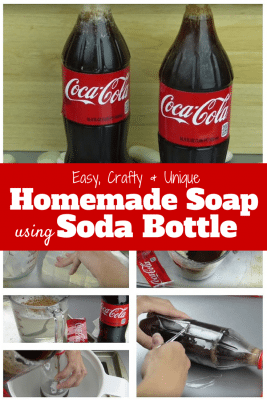A homemade soap that shapes like a soda bottle. It is a great gift or addition to your bathroom.