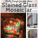 How to Make DIY Stained Glass Mosaic Jar
