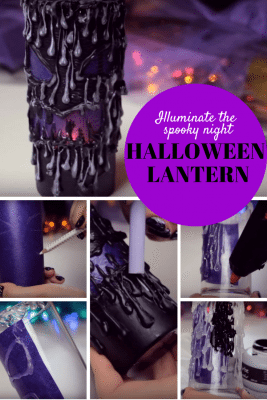 Scary, spooky and crafty. A DIY lantern to light up the Halloween nights.