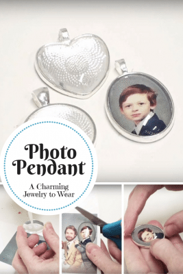 A DIY photo pendant is the perfect gift to someone special. It's simple to do one-of-a-kind keepsake that can be worn and treasured for years to come.