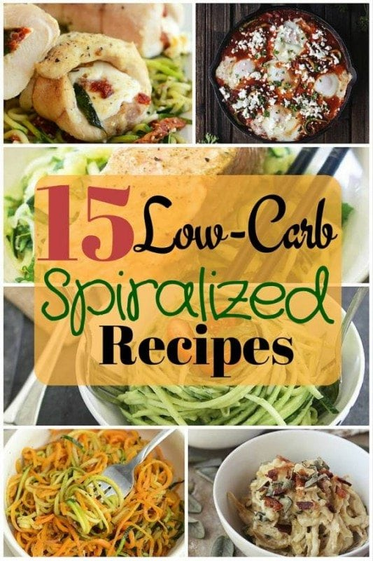 Start a healthy lifestyle with this brand new Spiralizer. These 15 low-carb spiralized recipes are healthy and super delicious too!