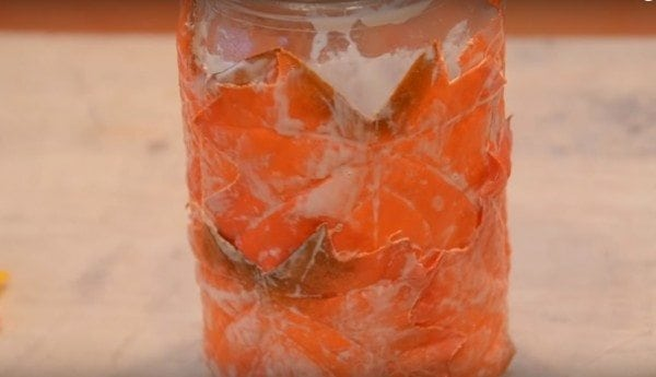 diy fall leaf mason jar lantern