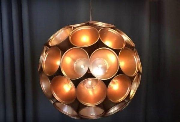 diy metallic sparkle ball