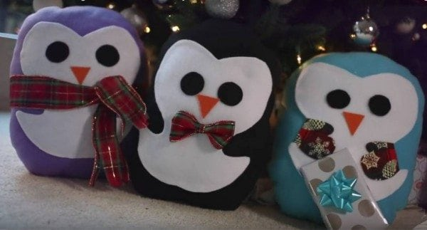 diy penguin pillow