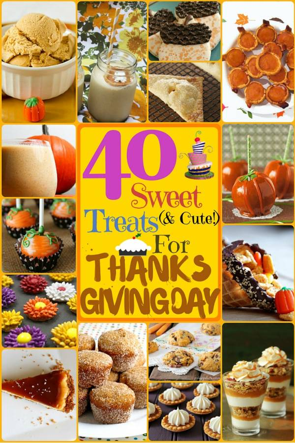40 sweet  and cute   treats for thanksgiving day