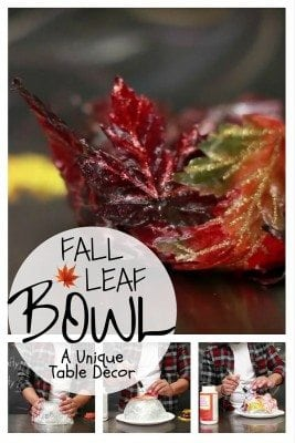 DIY Fall Leaf Bowl is an excellent table decor you can make with fall leaves. Get your house ready for fall.